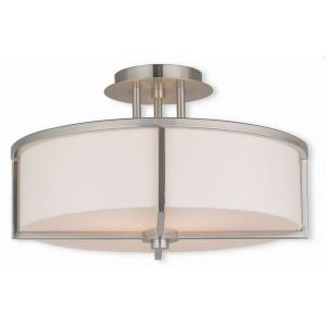 Wesley - 3 Light Semi-Flush Mount in Wesley Style - 16 Inches wide by 9.25 Inches high