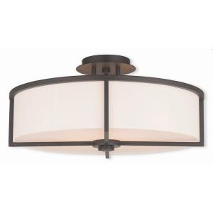 Wesley - 4 Light Semi-Flush Mount in Wesley Style - 19 Inches wide by 9.25 Inches high