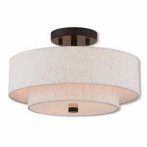 Claremont - 2 Light Semi-Flush Mount in Claremont Style - 13 Inches wide by 8 Inches high
