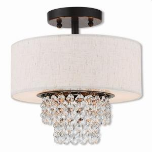 Carlisle - 2 Light Semi-Flush Mount in Carlisle Style - 11 Inches wide by 10.7 Inches high