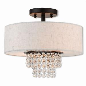"Carlisle - 13"" Two Light Flush Mount"