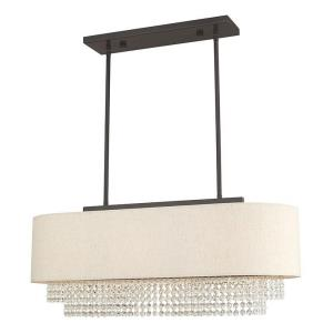 "Carlisle - 31"" Three Light Linear Chandelier"