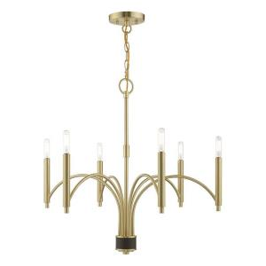 Wisteria - 6 Light Chandelier in Wisteria Style - 26 Inches wide by 24 Inches high
