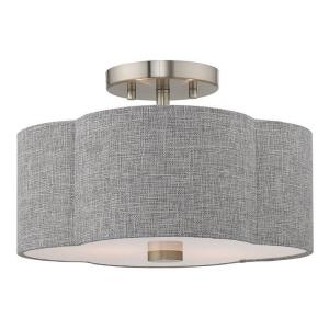 Kalmar - 2 Light Flush Mount in Kalmar Style - 13 Inches wide by 8.5 Inches high