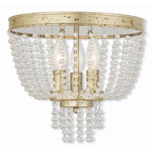 Valentina - 3 Light Flush Mount in Valentina Style - 12.25 Inches wide by 11 Inches high