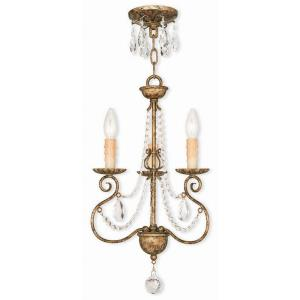 Isabella - 3 Light Mini Chandelier in Isabella Style - 13 Inches wide by 20.75 Inches high