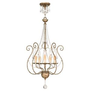 Isabella - 5 Light Foyer Chandelier in Isabella Style - 18 Inches wide by 32.75 Inches high