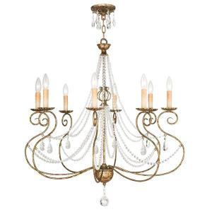 Isabella - 8 Light Chandelier in Isabella Style - 31.5 Inches wide by 32.75 Inches high