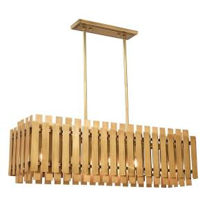 Greenwich - 5 Light Linear Chandelier in Greenwich Style - 12 Inches wide by 19 Inches high