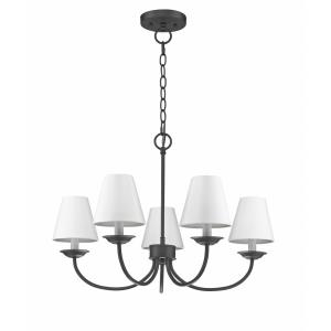 Mendham - 5 Light Convertible Mini Chandelier/Semi-Flush Mount in Mendham Style - 25 Inches wide by 17 Inches high
