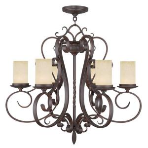 Millburn Manor - 6 Light Chandelier in Millburn Manor Style - 29.5 Inches wide by 26.5 Inches high