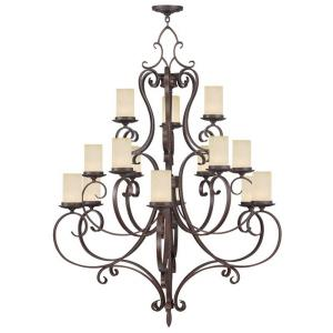 Millburn Manor - 15 Light Chandelier in Millburn Manor Style - 42 Inches wide by 52.5 Inches high