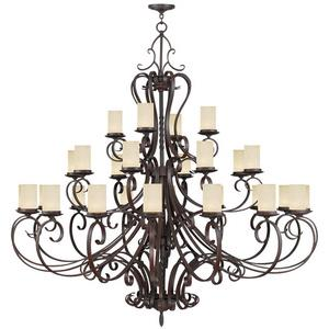 Millburn Manor - Twenty Eight Light 3-Tier Chandelier