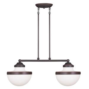 Oldwick - 2 Light Linear Chandelier in Oldwick Style - 10.25 Inches wide by 24 Inches high