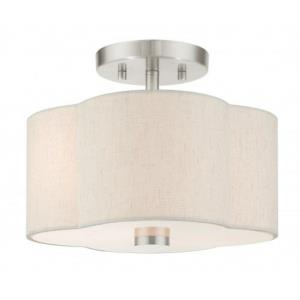 Solstice - 2 Light Semi-Flush Mount in Solstice Style - 11 Inches wide by 8.5 Inches high