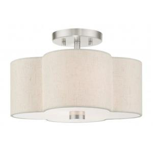 Solstice - 2 Light Semi-Flush Mount in Solstice Style - 13 Inches wide by 8.5 Inches high