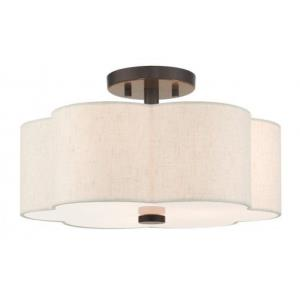 Solstice - 15 Inch 3 Light Semi-Flush Mount
