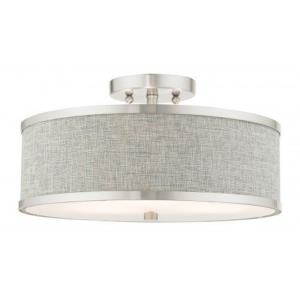 Park Ridge - 15 Inch 3 Light Semi-Flush Mount