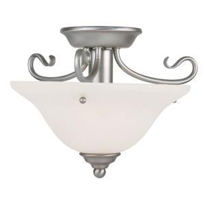 Coronado - 1 Light Semi-Flush Mount in Coronado Style - 13 Inches wide by 9.25 Inches high