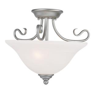 Coronado - 2 Light Semi-Flush Mount in Coronado Style - 15.5 Inches wide by 12 Inches high
