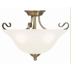 Coronado - 3 Light Semi-Flush Mount