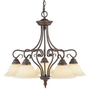 Coronado - 5 Light Chandelier in Coronado Style - 25.5 Inches wide by 23.25 Inches high