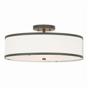 Park Ridge - 3 Light Semi-Flush Mount in Park Ridge Style - 18 Inches wide by 8 Inches high