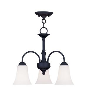 Ridgedale - 3 Light Convertible Dinette Chandelier in Ridgedale Style - 18 Inches wide by 15 Inches high