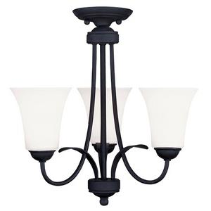 Ridgedale - Three Light Convertible Semi-Flush Mount