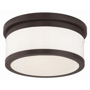 Stafford - 2 Light Flush Mount in Stafford Style - 11.75 Inches wide by 5.25 Inches high