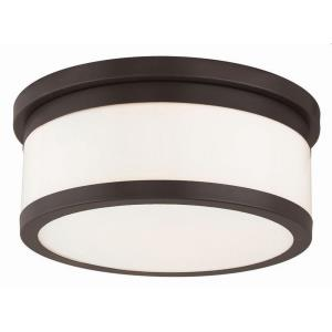 Stafford - 3 Light Flush Mount in Stafford Style - 13.75 Inches wide by 5.75 Inches high