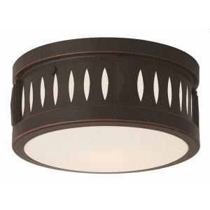 Vista - 2 Light Flush Mount in Vista Style - 10 Inches wide by 4 Inches high