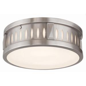 Vista - 2 Light Flush Mount in Vista Style - 12 Inches wide by 4 Inches high