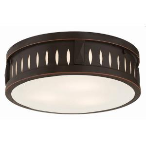 Vista - 3 Light Flush Mount in Vista Style - 14 Inches wide by 4 Inches high