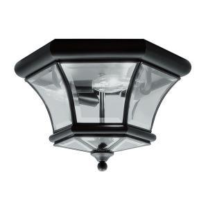 Monterey/Georgetown - 3 Light Outdoor Flush Mount in Monterey/Georgetown Style - 12.5 Inches wide by 7.75 Inches high