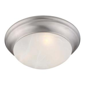 Omega - 2 Light Flush Mount in Omega Style - 14 Inches wide by 4.75 Inches high