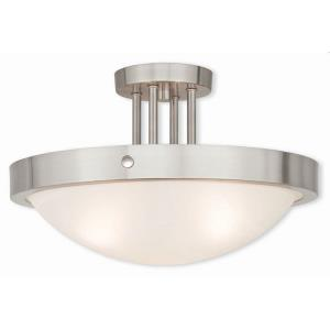 New Brighton - 3 Light Semi-Flush Mount in New Brighton Style - 16.5 Inches wide by 10 Inches high