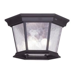 Hamilton - Three Light Outdoor Flush Mount