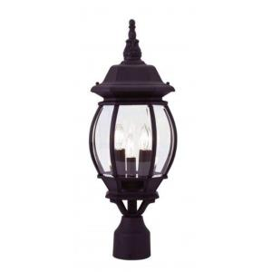Frontenac - 3 Light Outdoor Post Top Lantern in Frontenac Style - 8.5 Inches wide by 21 Inches high