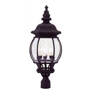 Frontenac - 4 Light Outdoor Post Top Lantern in Frontenac Style - 11.5 Inches wide by 27.5 Inches high