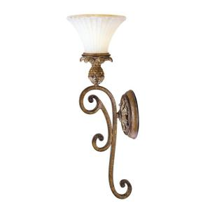 Savannah - 1 Light Wall Sconce in Savannah Style - 7 Inches wide by 23 Inches high
