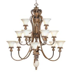 Savannah - Three Tier Sixteen Light Chandelier