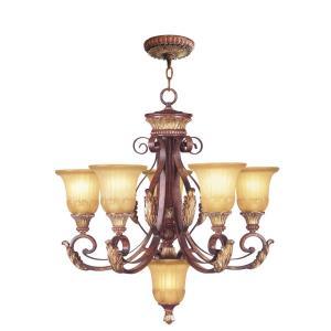 Villa Verona - 6 Light Chandelier in Villa Verona Style - 26 Inches wide by 28 Inches high