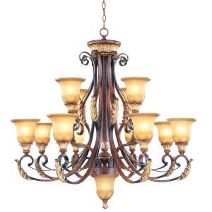 Villa Verona - 13 Light Chandelier in Villa Verona Style - 40 Inches wide by 39 Inches high