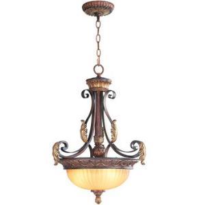 Villa Verona - Three Light Inverted Pendant
