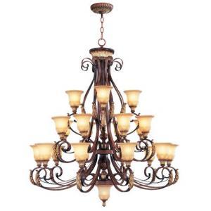Villa Verona - 23 Light Chandelier in Villa Verona Style - 50 Inches wide by 56 Inches high