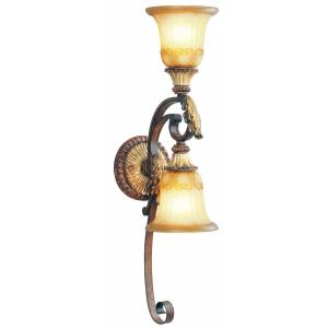 Villa Verona - 2 Light Wall Sconce in Villa Verona Style - 6.25 Inches wide by 27 Inches high