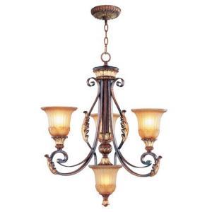 Villa Verona - 4 Light Chandelier in Villa Verona Style - 24.25 Inches wide by 27.5 Inches high