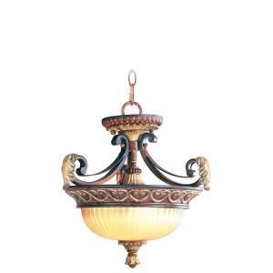 Villa Verona - 2 Light Convertible Inverted Pendant in Villa Verona Style - 15.25 Inches wide by 15.25 Inches high