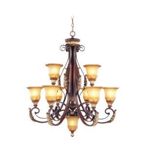 Villa Verona - 10 Light Chandelier in Villa Verona Style - 33.25 Inches wide by 38 Inches high